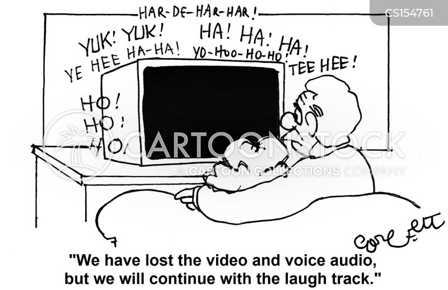 laugh track cartoon