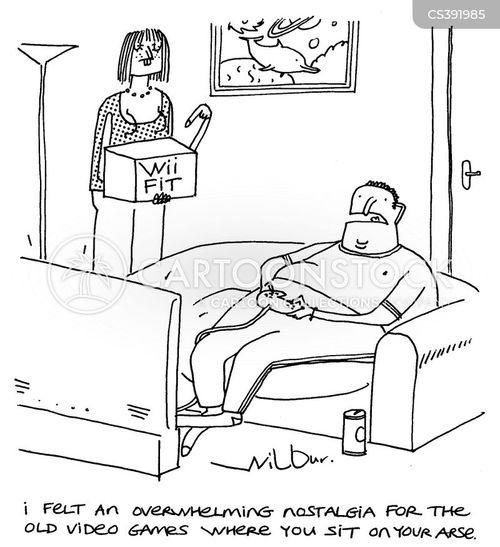 sitting down cartoon