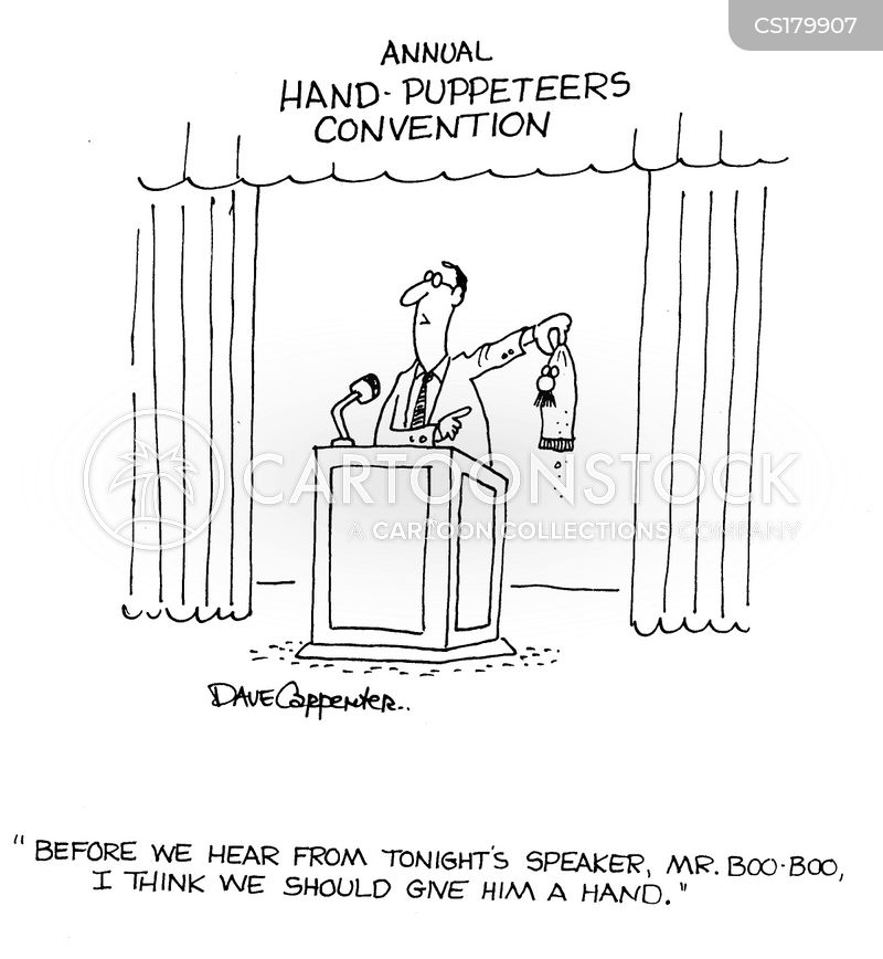 glove puppets cartoon