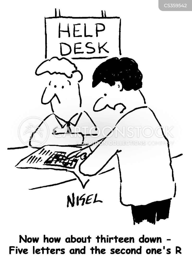 help desks cartoon
