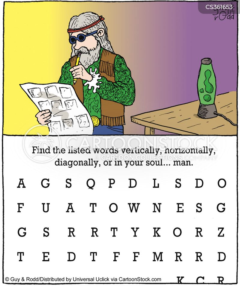 word puzzle cartoon