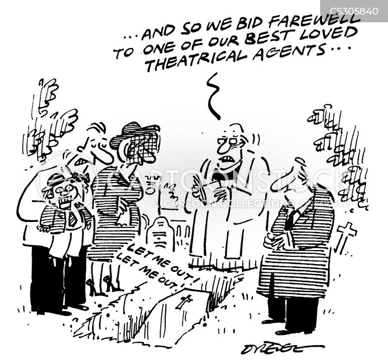 theatrical agent cartoon