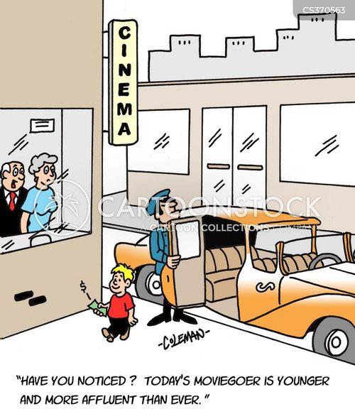 moviegoers cartoon