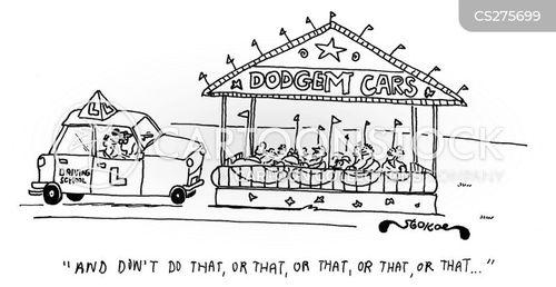 dodgem cars cartoon