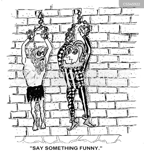 shackled cartoon