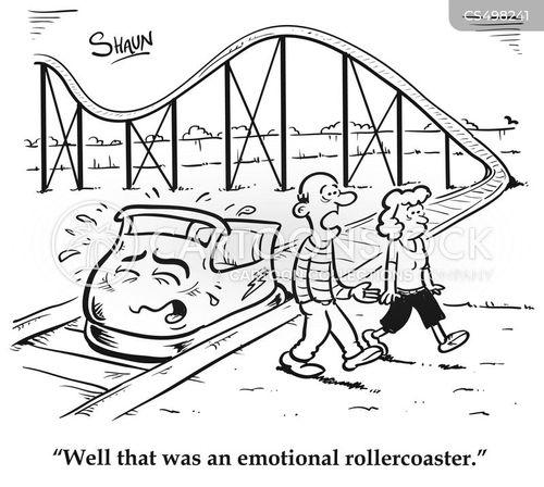 emotional rollercoasters cartoon