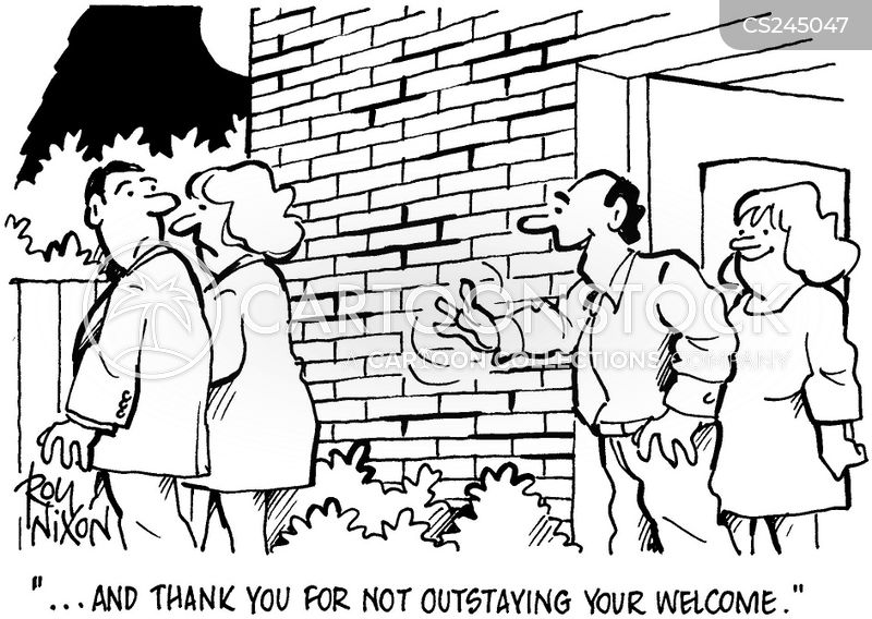 outstaying your welcome cartoon
