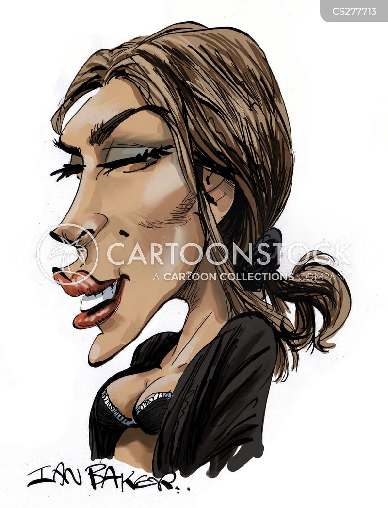 famous actresses cartoon
