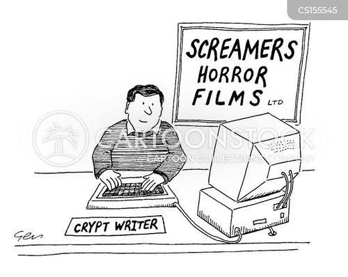 script writer cartoon