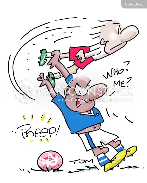 free kick cartoon