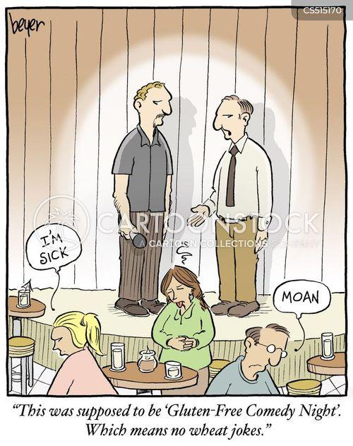 food intolerances cartoon