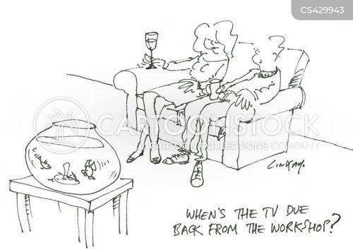 television repairs cartoon