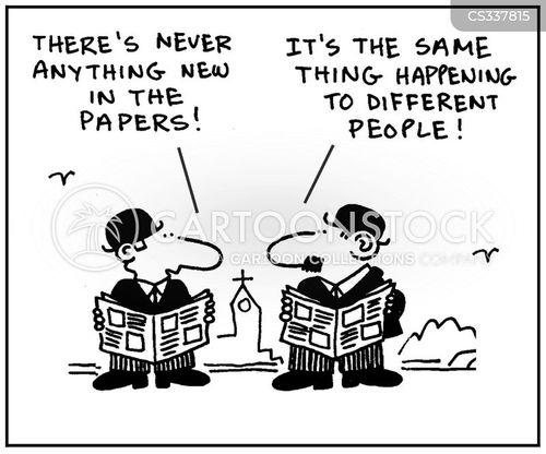 daily news cartoon
