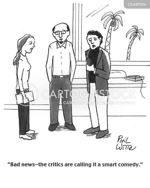 tv critic cartoon