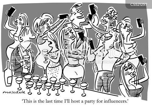 cult of celebrity cartoon