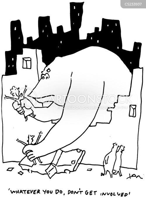 giant gorillas cartoon