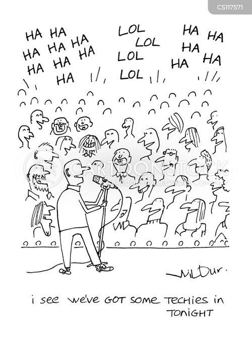 stand-up comedians cartoon