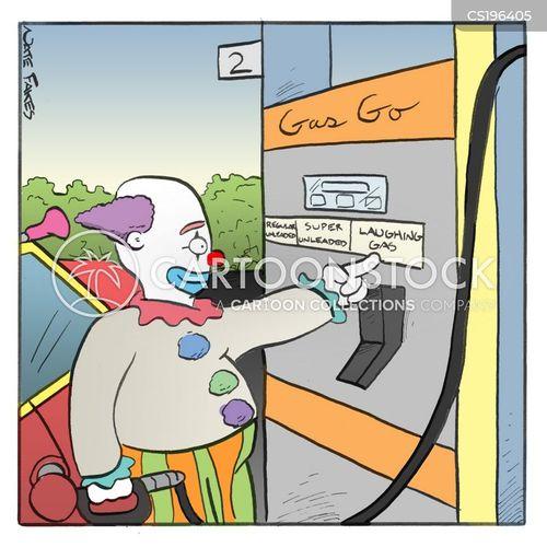 petrol pump cartoon