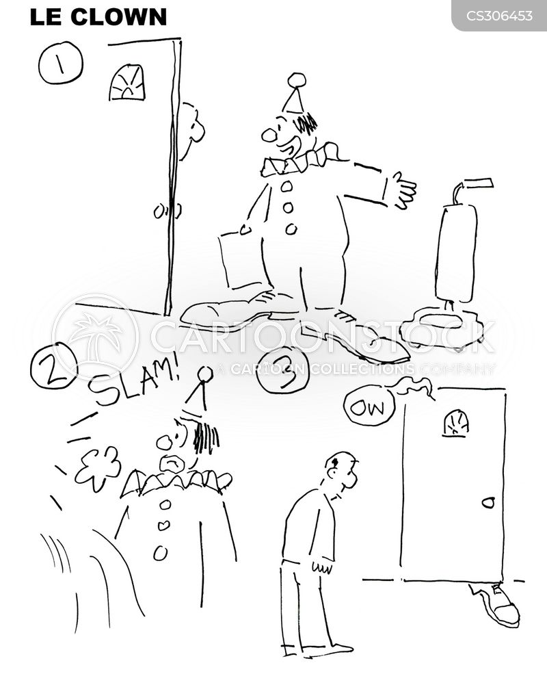 vacuum salesman cartoon