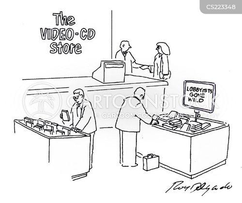 compact disc cartoon