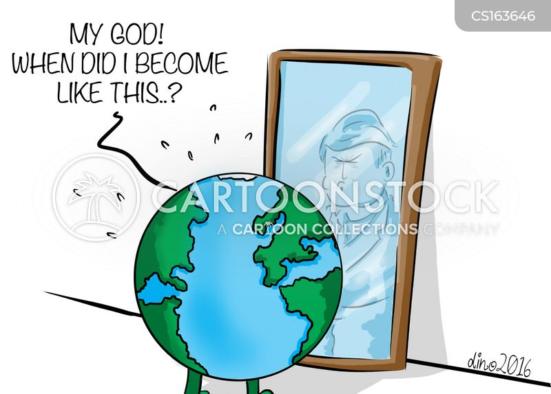 look in the mirror cartoon