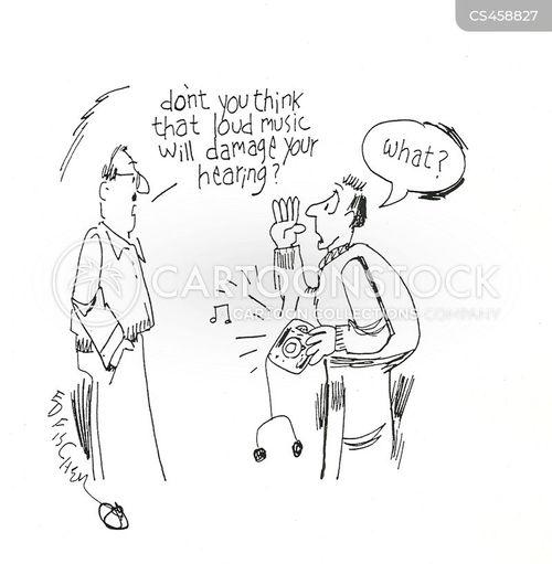 loud music cartoon