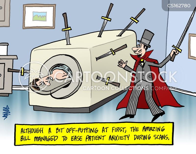 mri scans cartoon