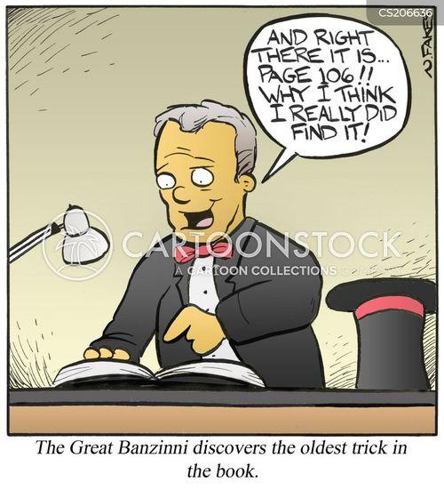 magic book cartoon