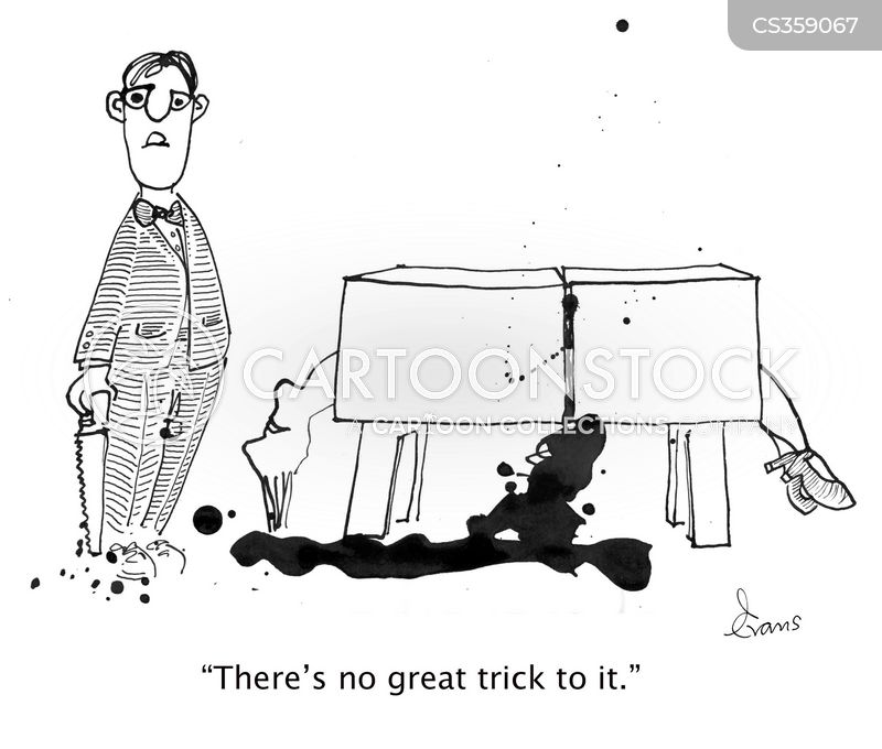 stage trick cartoon