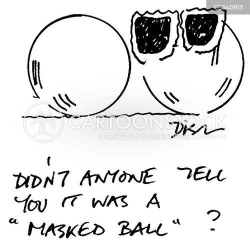 masked ball cartoon