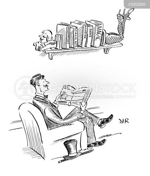 bookcases cartoon