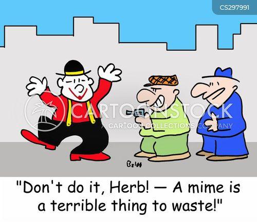 street mimes cartoon