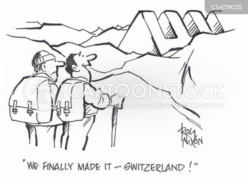 the alps cartoon