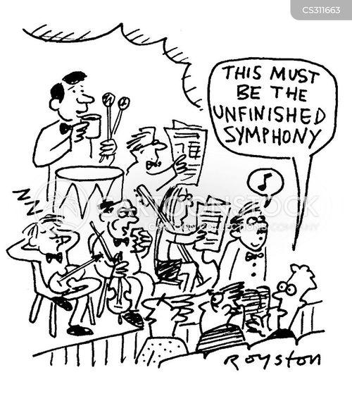 unfinished symphony cartoon