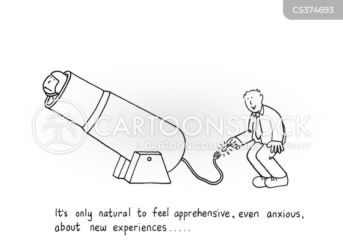 apprehension cartoon