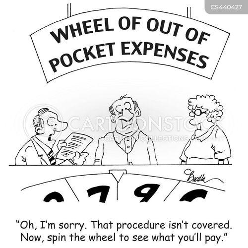 Cartoon – Wheel of Out of Pocket Expenses | HENRY KOTULA