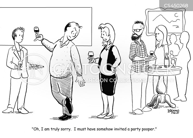 party pooper cartoon