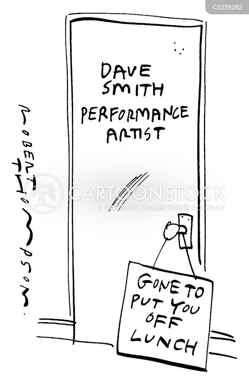 performance artist cartoon