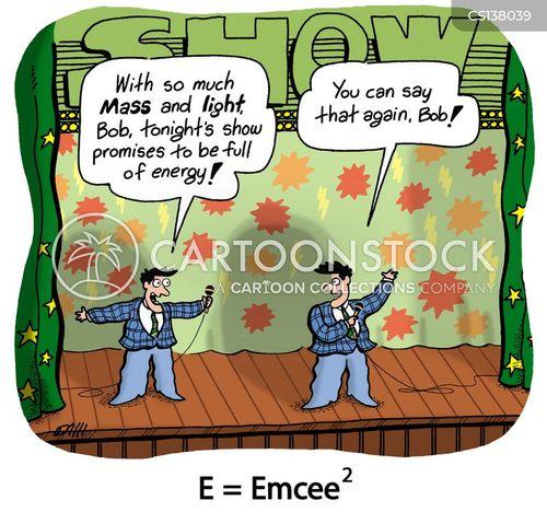 emcee cartoon