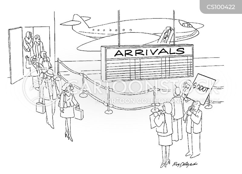 arrives cartoon