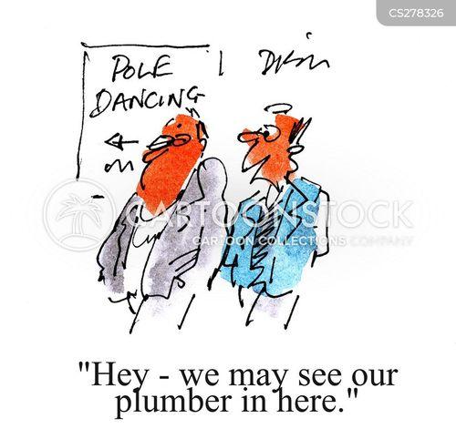 pole dance cartoon