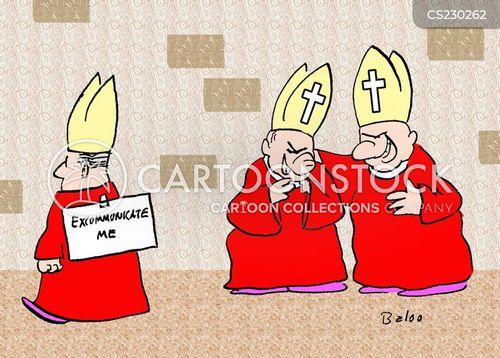excommunicated cartoon