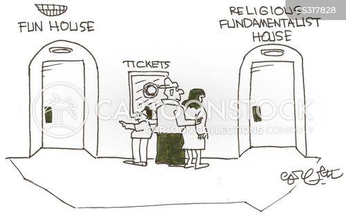 secular religions cartoon