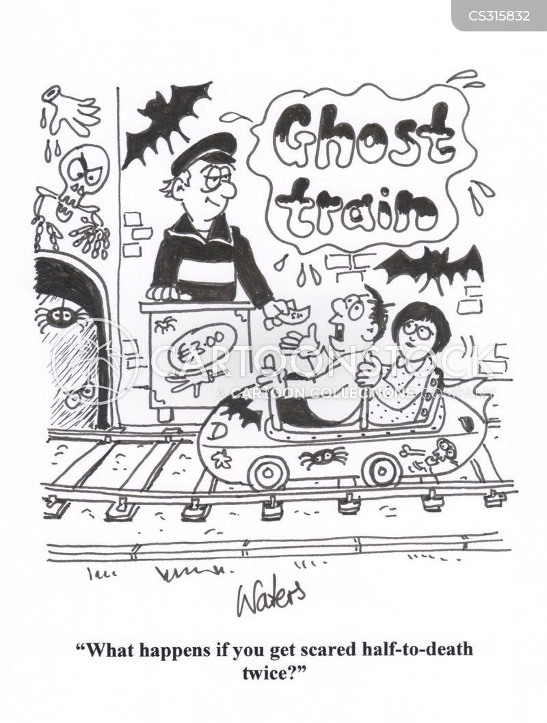 ghost trains cartoon