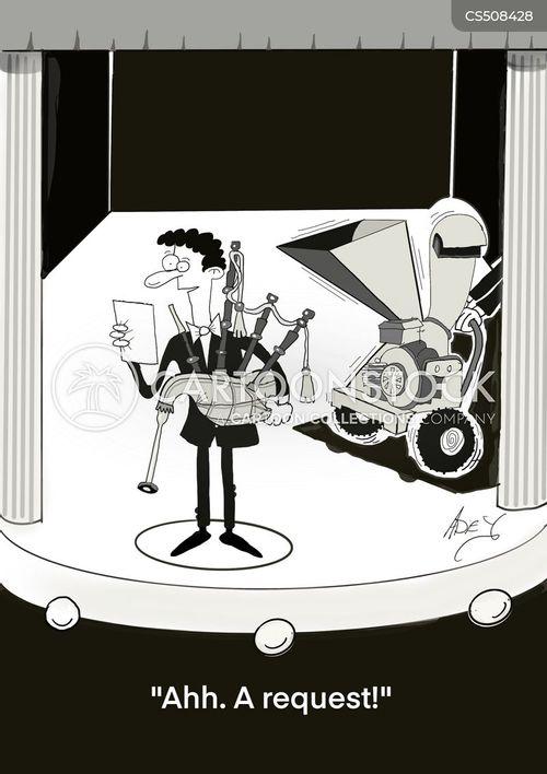 bagpipe player cartoon