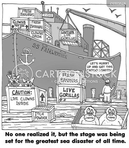 sea disaster cartoon