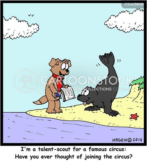 talent scout cartoon