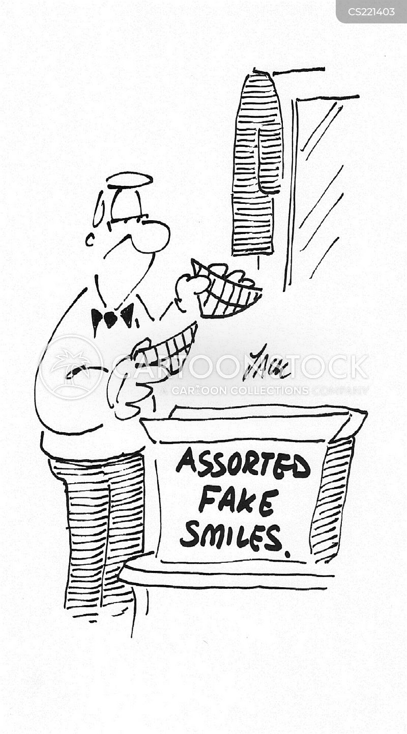 fake smiles cartoon
