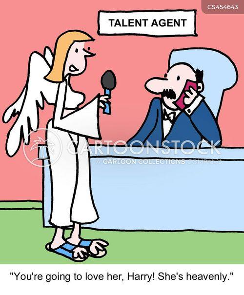 talent agency cartoon