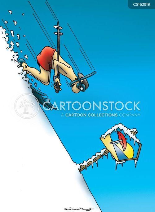 winter vacation cartoon
